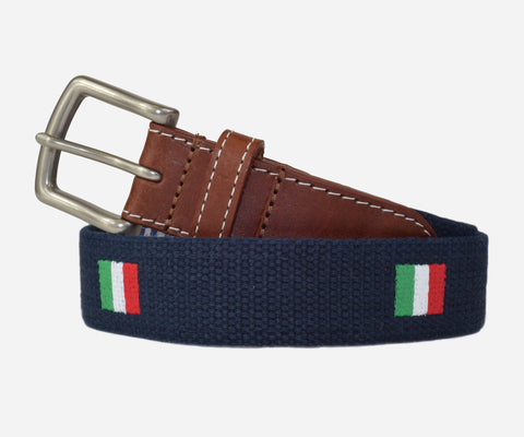 Italian Flag Belt (patriot navy)