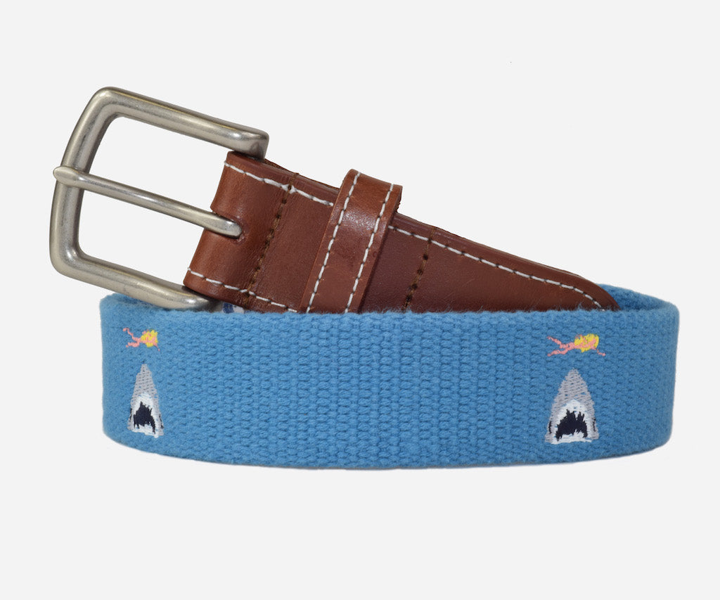 Shark Attack Belt (marine blue)