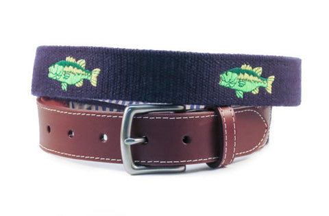 Large Mouth Bass Belt (patriot navy)