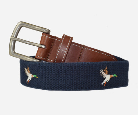Mallard Duck Belt (patriot navy)