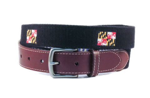 Maryland State Flag Belt (black)