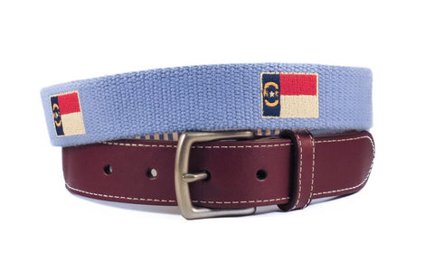 North Carolina State Flag Belt (tarheel blue)