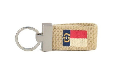 North Carolina Flag Key Fob (khaki)