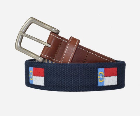 North Carolina State Flag Belt (patriot navy)