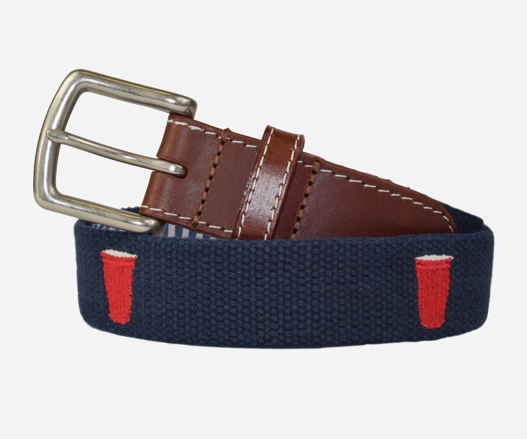 Red Cup Party Belt (patriot navy)