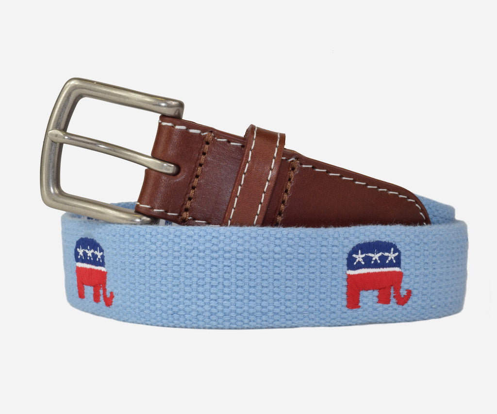 Republican Party Political Belt (tarheel blue)