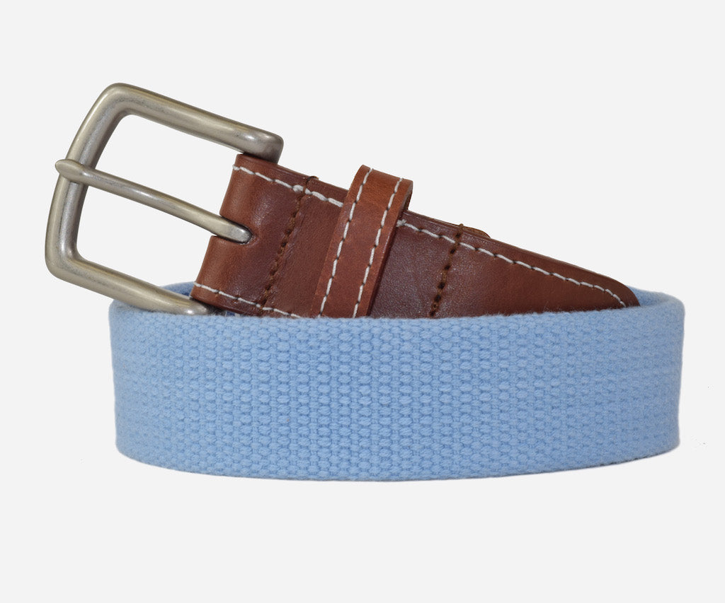 JT Spencer Solid Belt  (tarheel blue)