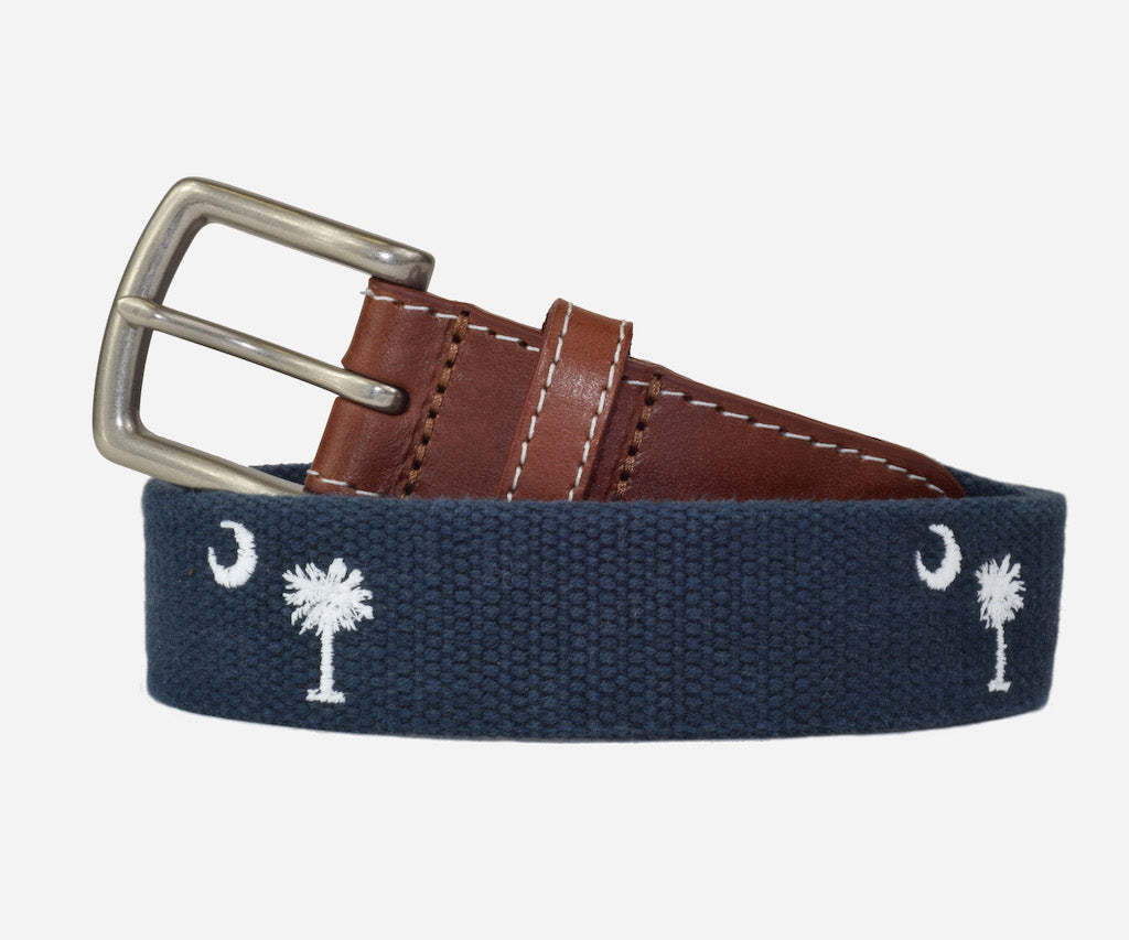 South Carolina State Flag Belt (patriot navy)