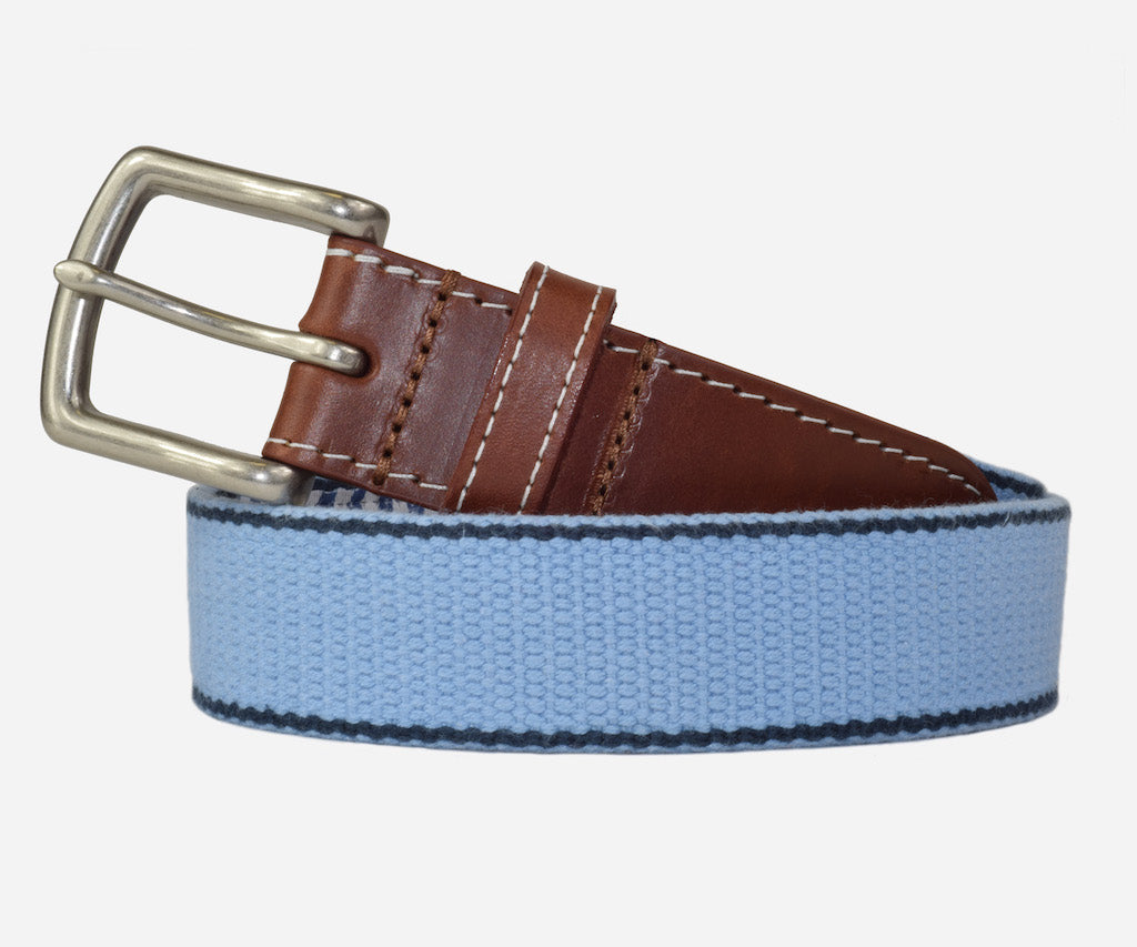 JT Spencer Stripe Belt (tarheel blue/patriot navy)