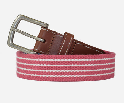 JT Spencer Stripe Belt (nantucket red/white)