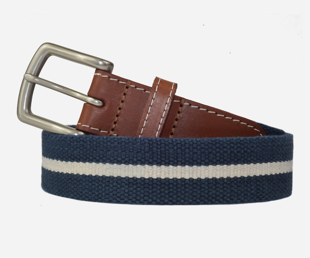 JT Spencer Stripe Belt (patriot navy/stone)