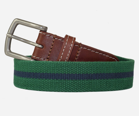 JT Spencer Stripe Belt (erin green/patriot navy)