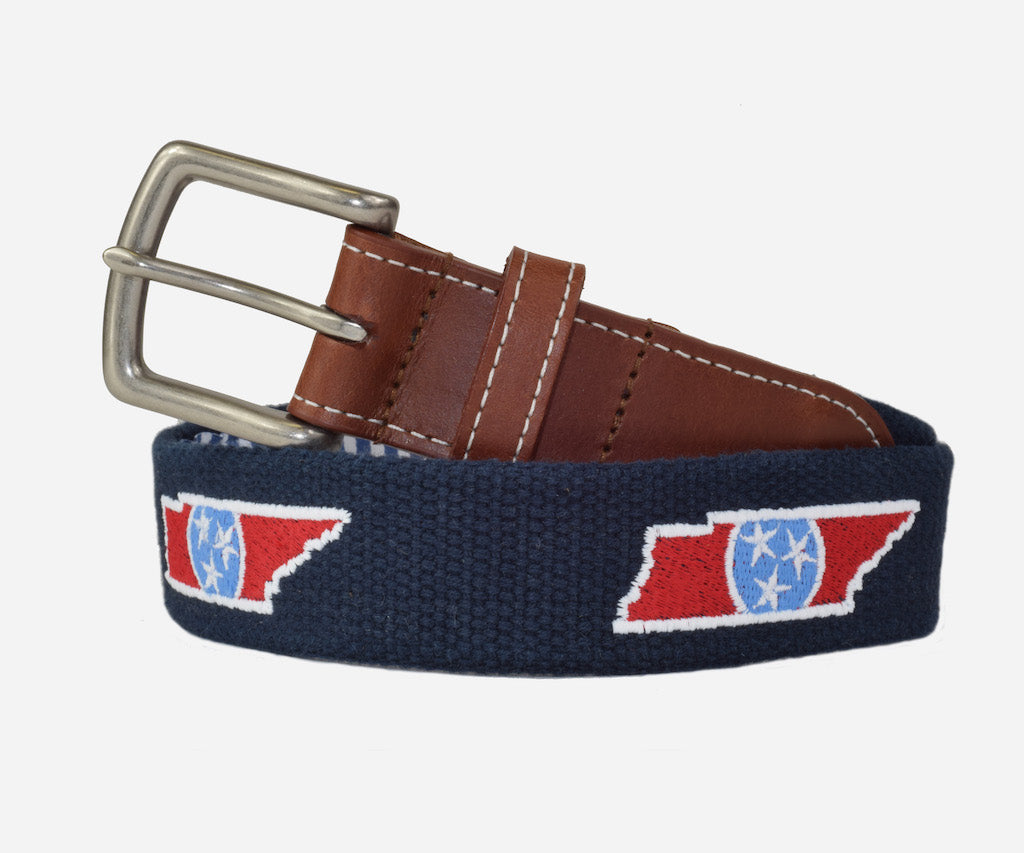 Tennessee State with Flag Belt (patriot navy)