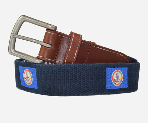 Virginia State Flag Belt (patriot navy)