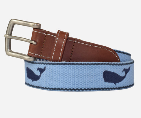 Whale Belt (cottage blue)