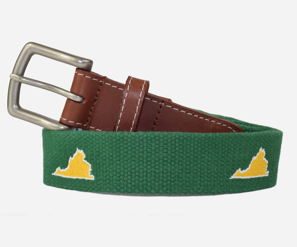 Virginia Tailgate Belt - Green & Gold