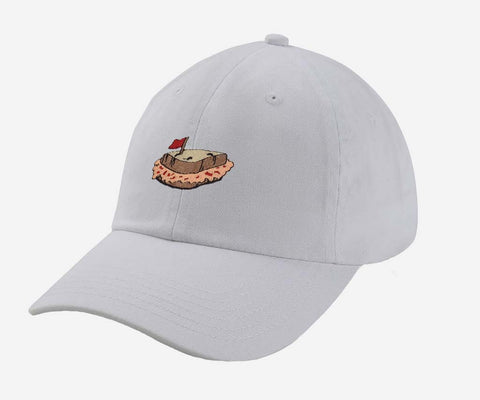 Pimento Cheese Sandwich Hat (White)