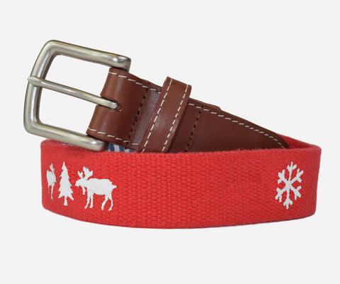 Ugly Christmas Sweater Belt (Red)
