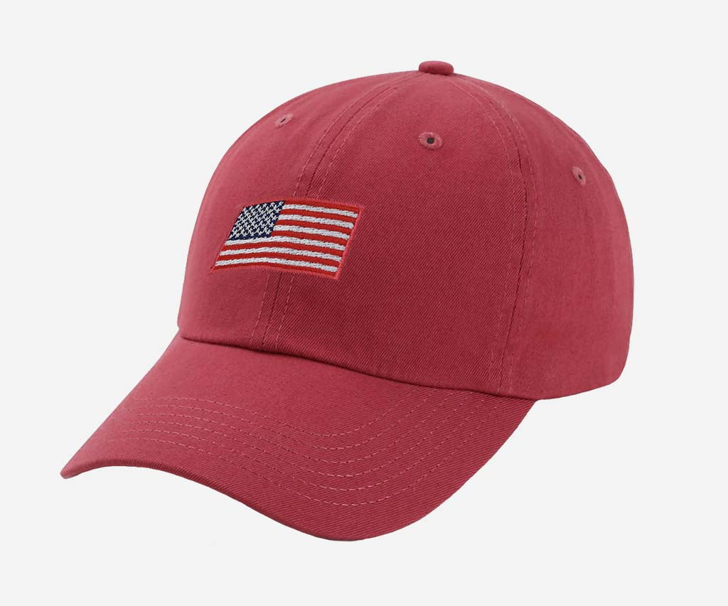 American Flag Hat (Nantucket Red)