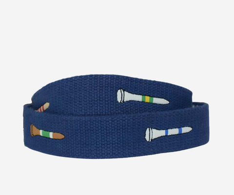 Classic Golf Tee Belt (Antique Navy)