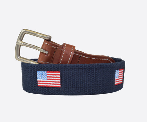 Youth American Flag Belt (Patriot navy)
