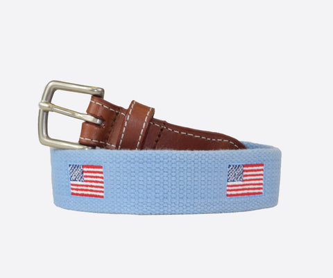 Youth American Flag Belt (cottage blue)