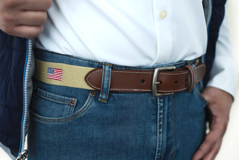 American Flag USA Belt (khaki)