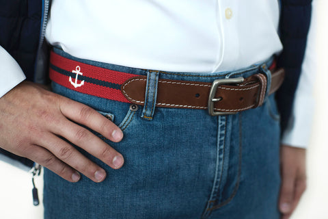 Anchor (Crimson with Patriot Navy stripe)