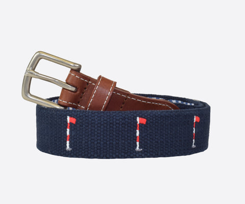 Youth Back 9 Golf Flags Belt (patriot navy)
