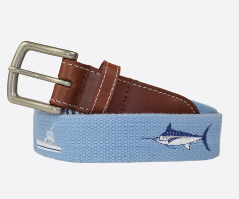 Captain Tony Deep Sea Fishing Belt (cottage blue)