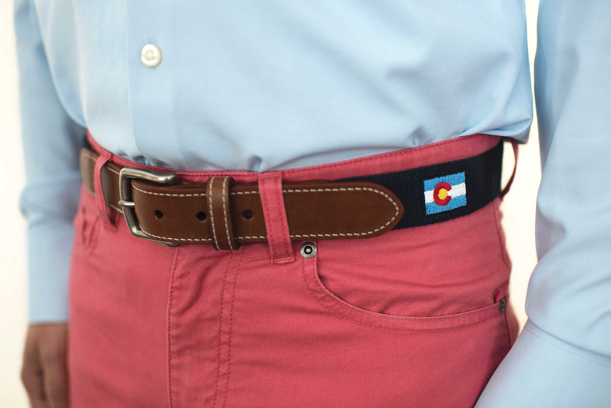 Colorado State Flag Belt (patriot navy)
