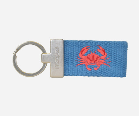 Crab key fob (marine blue)