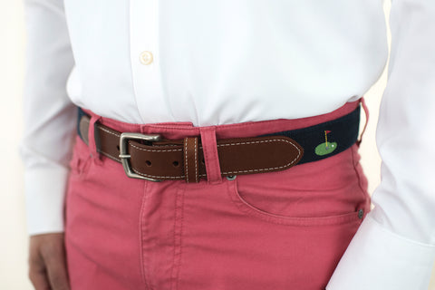Fore! Putting Green Belt (patriot navy)
