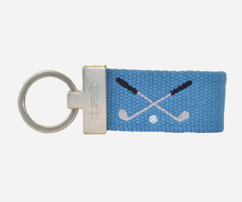 Golf Clubs Key Fob (Marine Blue)