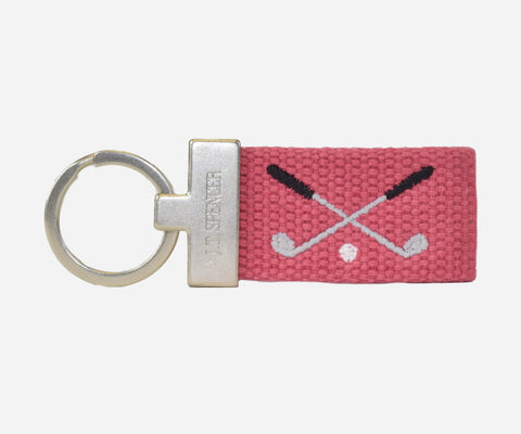 Golf Clubs key fob (nantucket red)