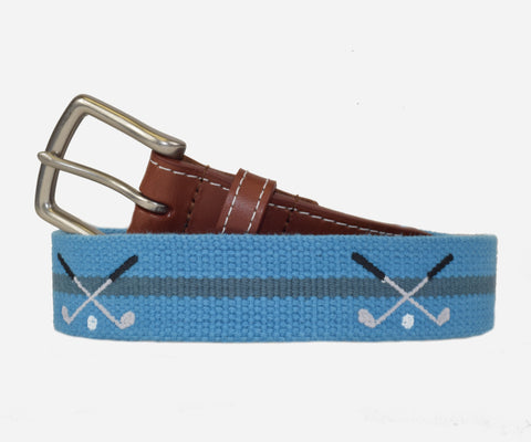Golf Clubs belt (marine blue and slate)