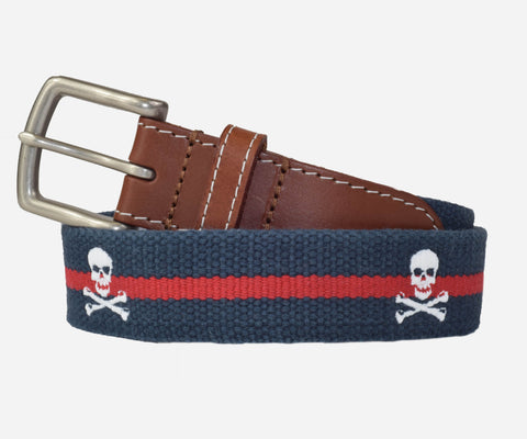 Jolly Roger (Patriot navy with crimson stripe)