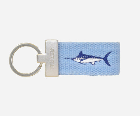 Marlin key fob (tarheel blue)