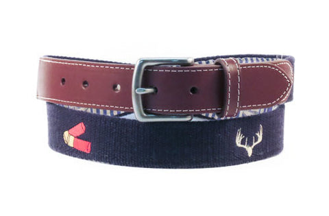 Antlers and Shotgun Shells Hunting Belt (patriot navy)