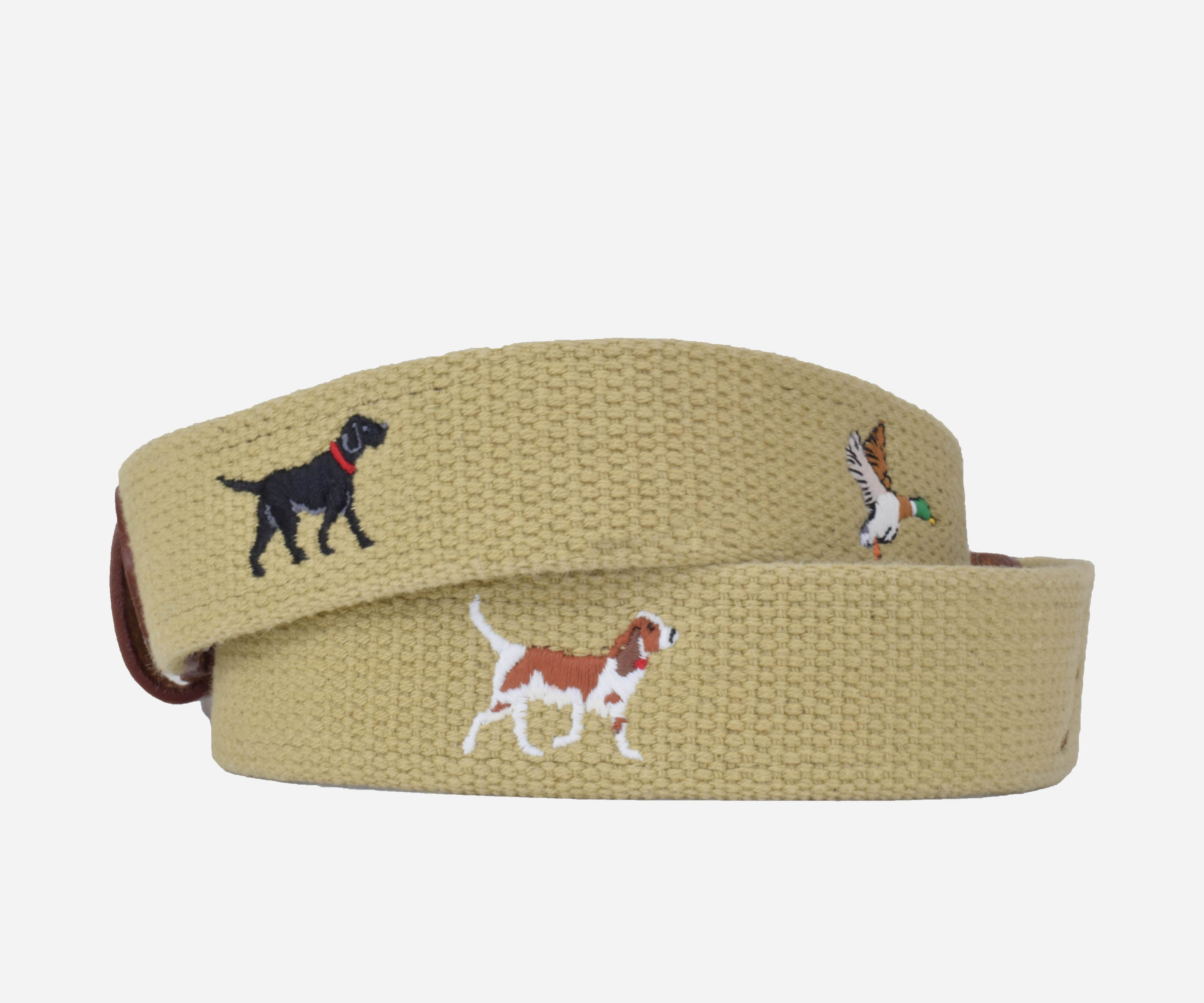 Three Dogs, Three Birds Belt (khaki)