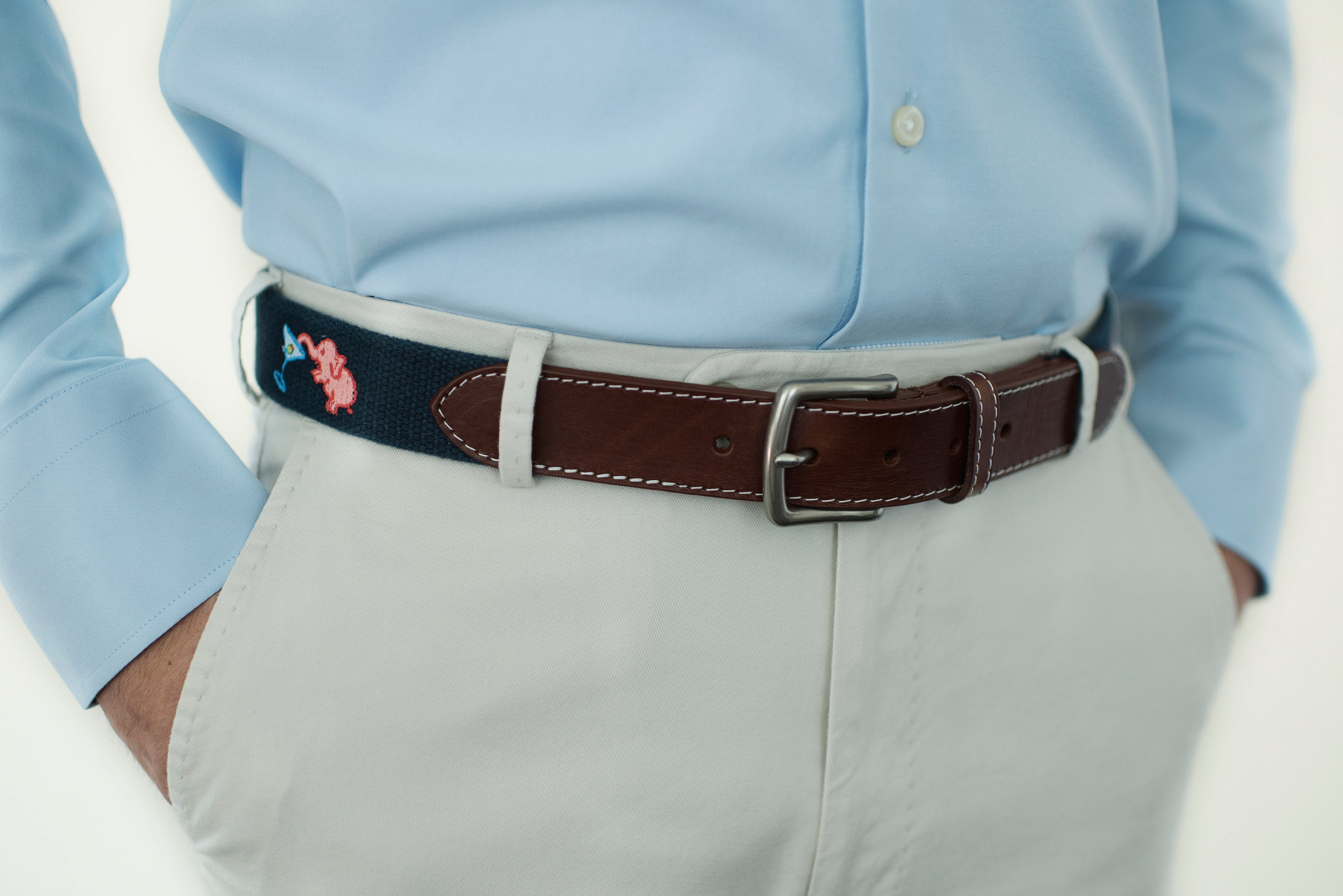 Pink Elephant Belt (patriot navy)