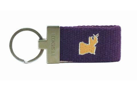 Louisiana Tailgate Key Fob - Purple & Gold