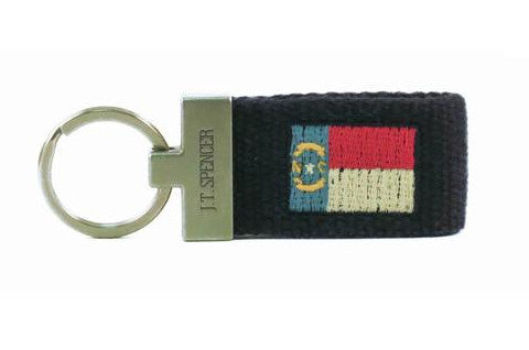 North Carolina State Flag Key Fob (patriot navy)