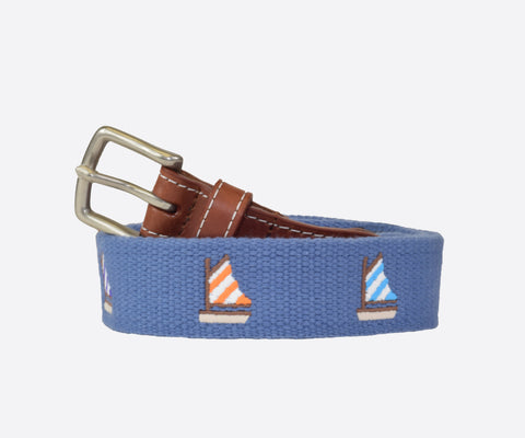 Youth Sailboats Belt (moonlight blue)