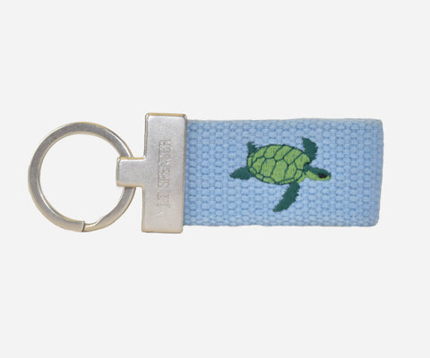 Sea Turtle Key Fob (tarheel blue)