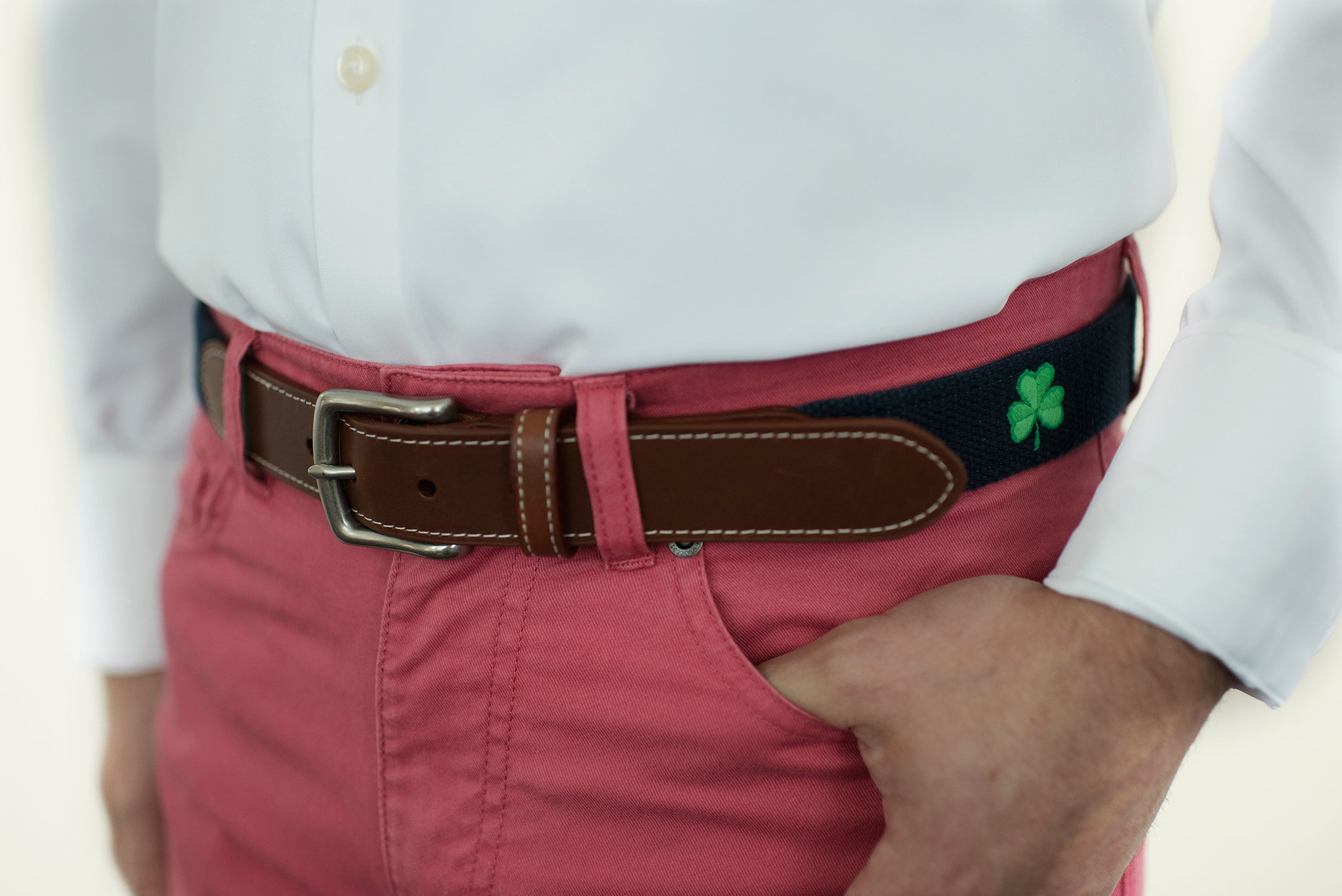 Shamrock Belt (patriot navy)