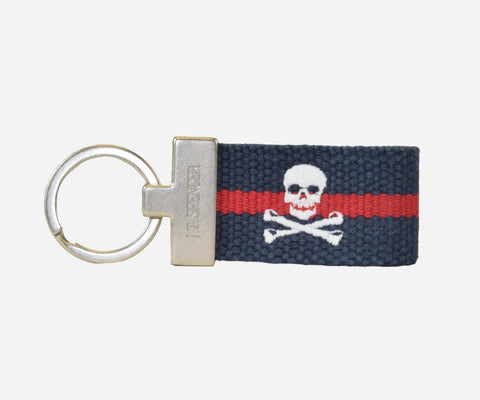 Jolly Roger key fob (patriot navy with crimson)