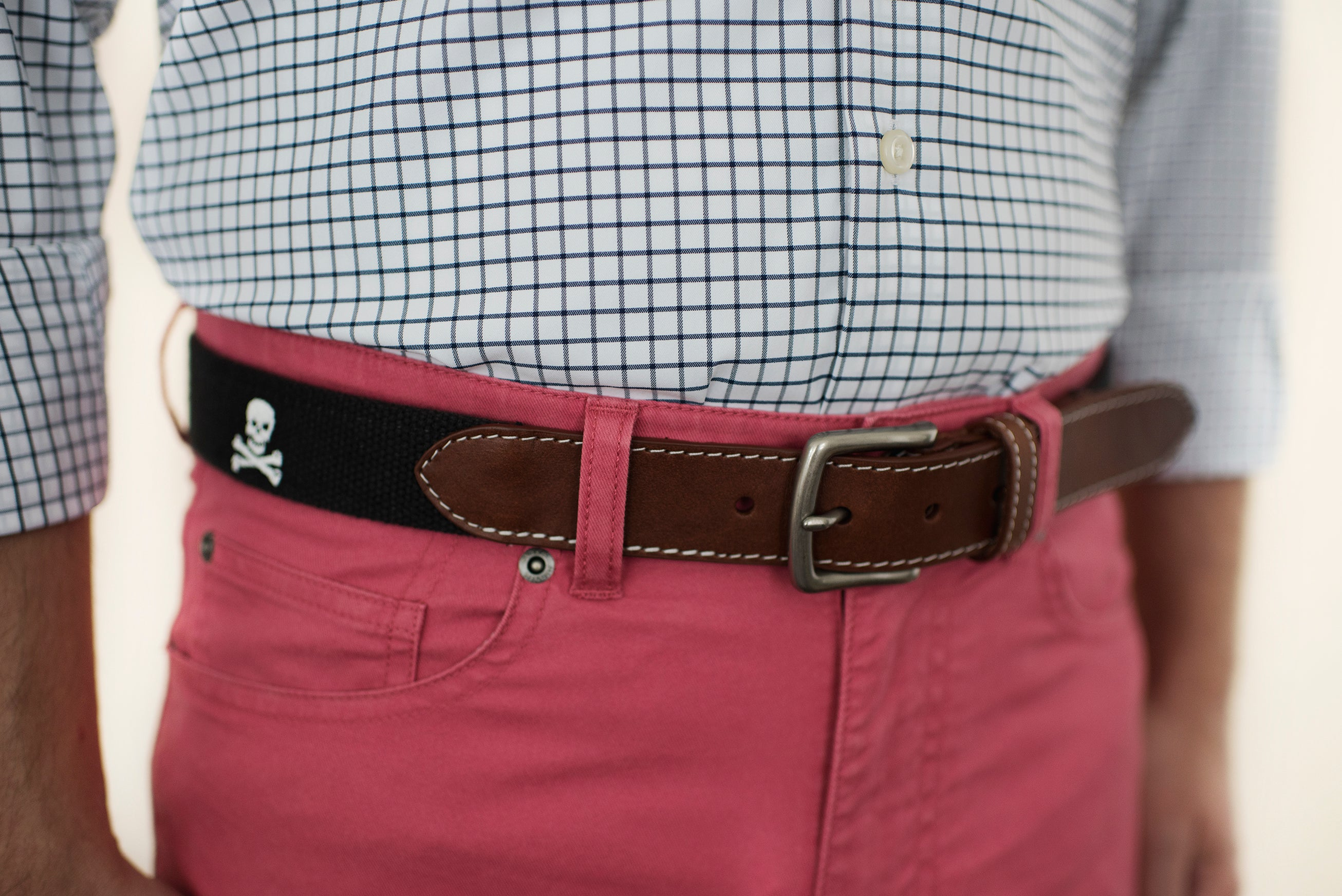 Jolly Roger Skull and Bones Belt (Black)
