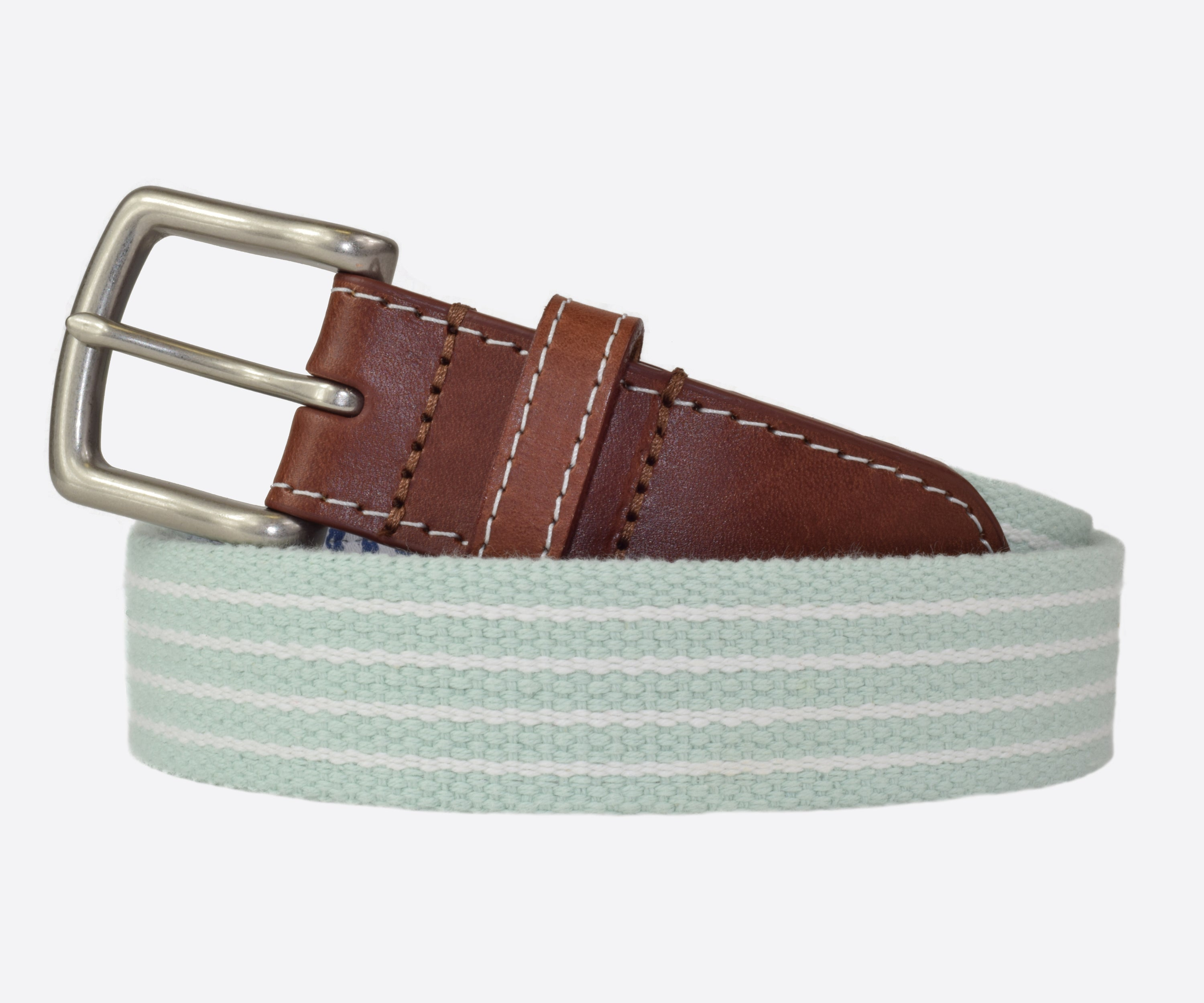 JT Spencer Stripe Belt (seafoam/white)