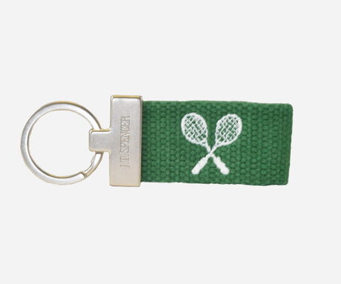 Tennis key fob (erin green)